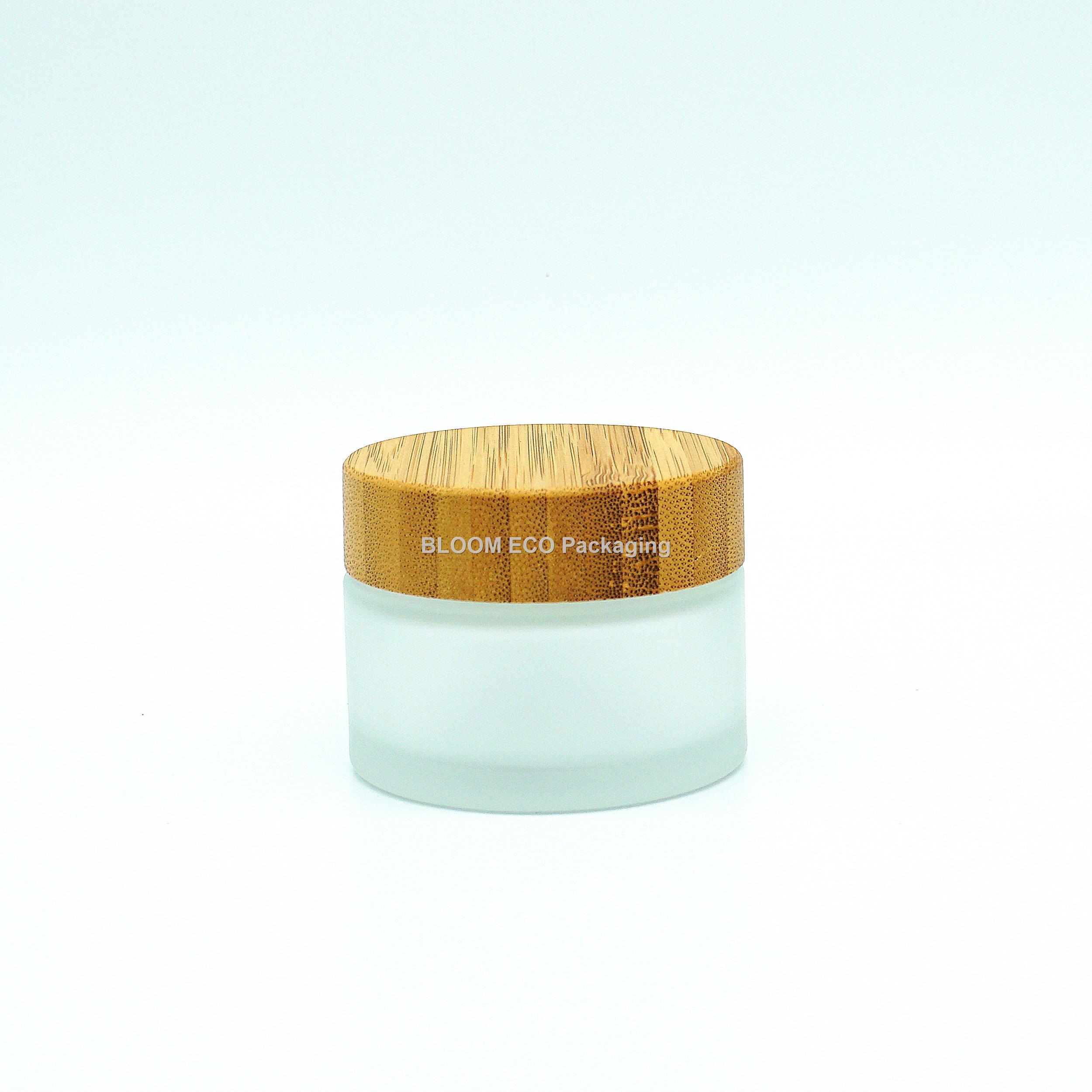 Glass Bamboo Cream Jar CJ3002