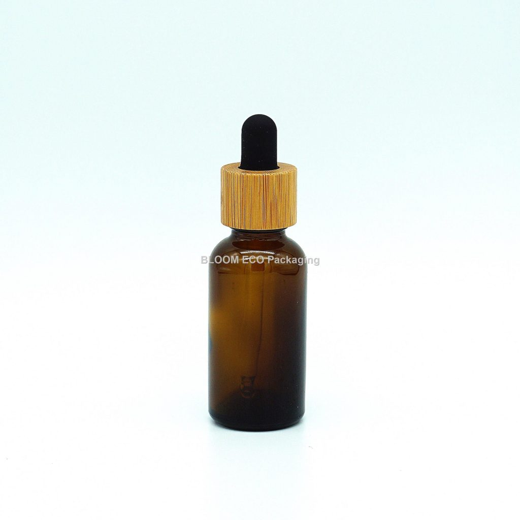 Glass Bamboo Dropper Bottle