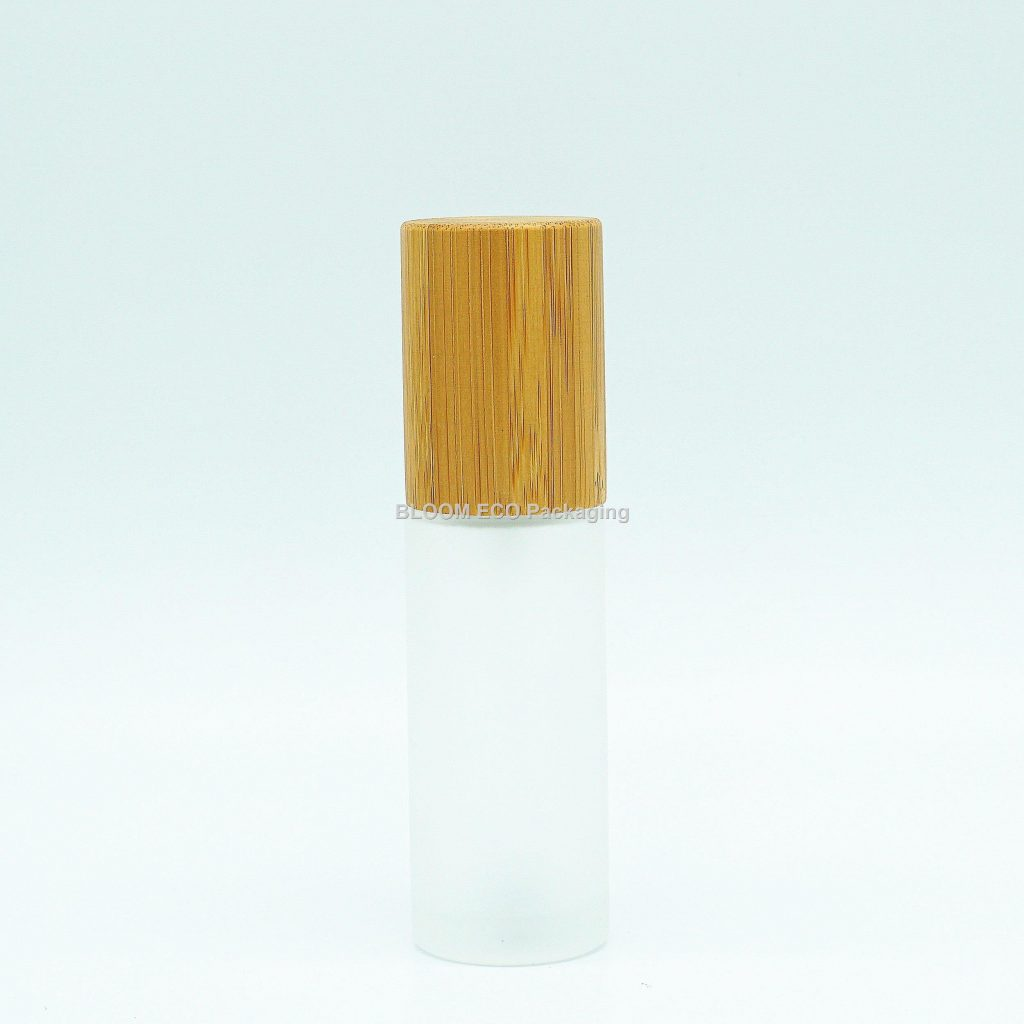 Glass Bmboo Lotion Bottle